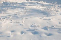 Nieve acumulada por la ventisca rusa imagen de archivo libre de regalías