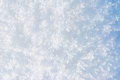 Nieve Background Nieve azul chispeante Imagenes de archivo