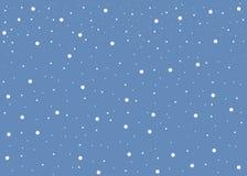 Nieve blanca que cae en modelo inconsútil del fondo azul stock de ilustración