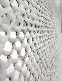 Nieve cogida en la cerca de alambre Imagen de archivo libre de regalías