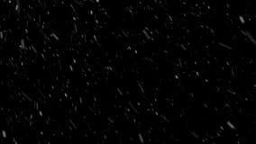 Nieve con el viento medio almacen de metraje de vídeo