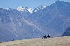 Nieve contra la duna de arena Imagen de archivo libre de regalías