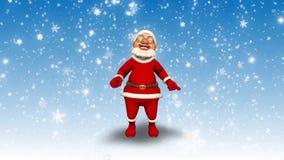 Nieve 3D Santa Happy New Year stock de ilustración