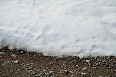 Nieve de fusión en la tierra Fotografía de archivo libre de regalías