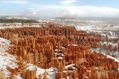 Nieve de la barranca de Bryce Imagen de archivo