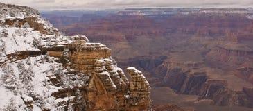 Nieve de la barranca magnífica Foto de archivo