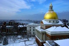 Nieve de la casa del estado Foto de archivo