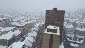 Nieve de la ciudad Fotografía de archivo libre de regalías