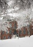 Nieve de la ciudad fotos de archivo libres de regalías