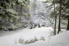 Nieve de la montaña Imágenes de archivo libres de regalías