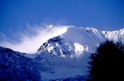 Nieve de la montaña fotos de archivo