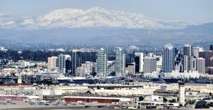 Nieve de la montaña sobre San Diego Foto de archivo libre de regalías