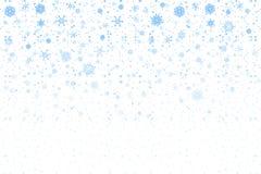 Nieve de la Navidad Copos de nieve que caen en el fondo blanco nevadas ilustración del vector