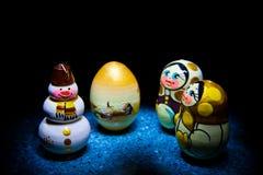 Nieve 2018 de la Navidad del juguete del muñeco de nieve de la Feliz Año Nuevo Fotos de archivo