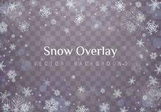 Nieve de la Navidad que cae stock de ilustración
