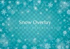 Nieve de la Navidad que cae ilustración del vector