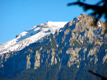 Nieve de la opinión de pico de montaña fotografía de archivo libre de regalías