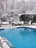 Nieve de la piscina imagen de archivo libre de regalías