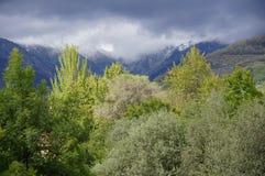 Nieve de las montañas de Gredos foto de archivo