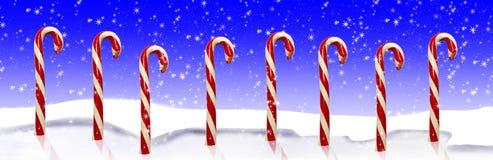 Nieve de los bastones de caramelo Foto de archivo