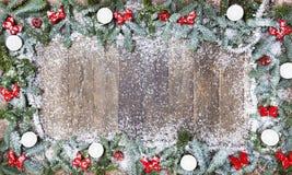 Nieve de madera de la Navidad del fondo Imagen de archivo libre de regalías