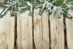 Nieve de madera del fondo Imagen de archivo libre de regalías