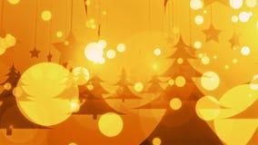 Nieve de oro de //4k 60fps 4k de la Navidad y lazo video del fondo de la celebración ilustración del vector