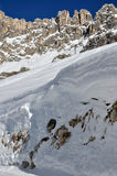 Nieve de Rosengarten, dolomías Fotos de archivo libres de regalías