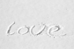 Nieve del amor Foto de archivo libre de regalías