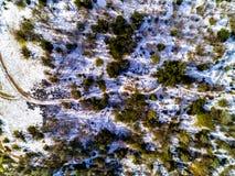 Nieve del camino de las minas imágenes de archivo libres de regalías