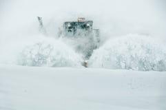Nieve del claro del camino Imagen de archivo