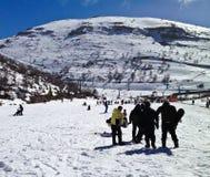 Nieve del esquí fotografía de archivo libre de regalías