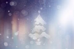 Nieve del fondo Blurred que brilla intensamente Foto de archivo