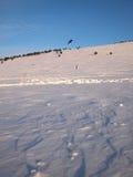 Nieve kiting Fotos de archivo libres de regalías