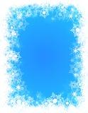 Nieve del marco del invierno Foto de archivo libre de regalías