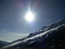 Nieve del paisaje Fotos de archivo