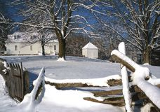 Nieve del resorte en Smithfield Imagen de archivo libre de regalías