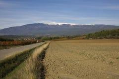 Nieve del ventoux de Mont Foto de archivo libre de regalías