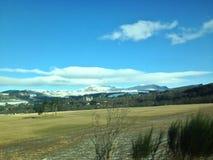 Nieve del viaje por carretera foto de archivo libre de regalías