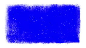 Nieve dentro de un marco congelado con llave de la croma ilustración del vector