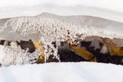 Nieve e hielo Fotografía de archivo