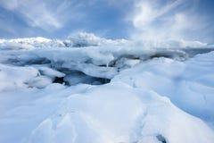 Nieve e hielo Imagen de archivo libre de regalías