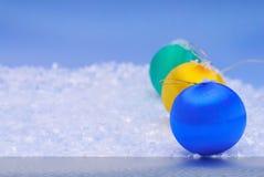 Nieve e hielo de la Navidad Fotos de archivo libres de regalías