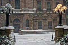 Nieve en Boston Imagen de archivo libre de regalías
