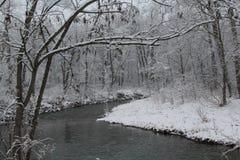 Nieve en The Creek imagen de archivo
