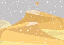 Nieve en desierto Ejemplo de inusual y de raro si acontecimiento libre illustration