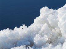 Nieve en el agua Imagen de archivo