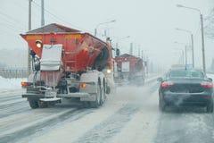 Nieve en el camino Foto de archivo
