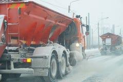 Nieve en el camino Imagen de archivo