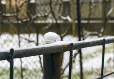 Nieve en el hielo en la cerca fotografía de archivo libre de regalías